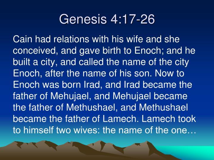Genesis 4:17-26