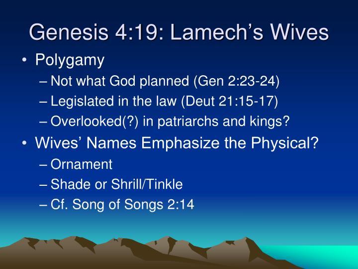 Genesis 4:19: