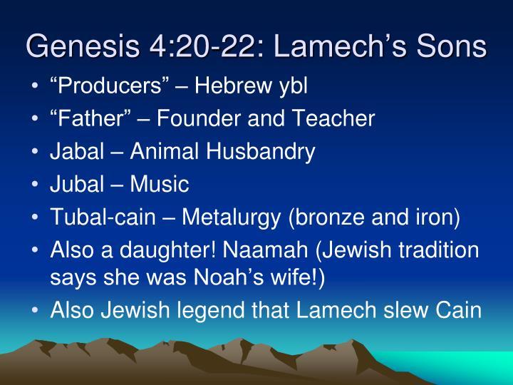 Genesis 4:20-22: