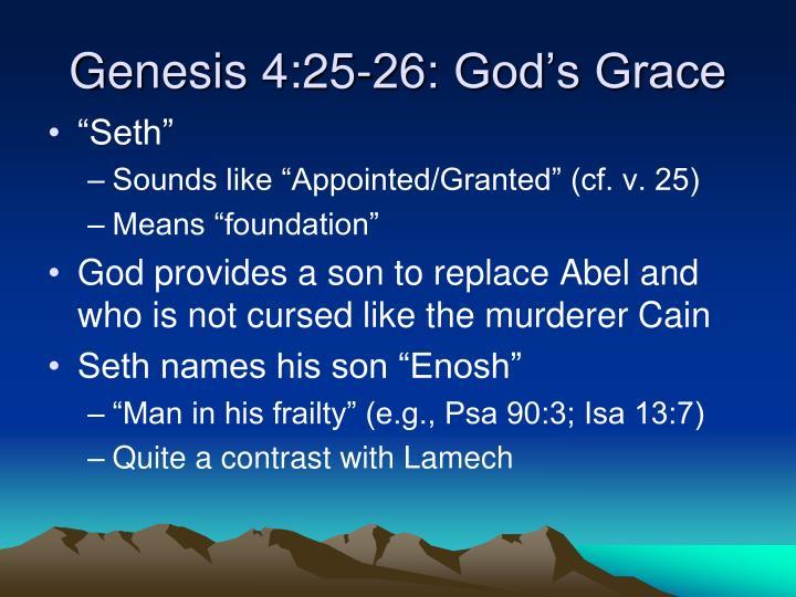 Genesis 4:25-26: God's Grace