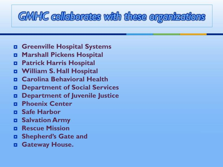 GMHC collaborates with these organizations