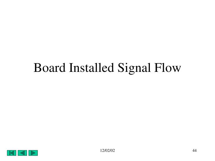 Board Installed Signal Flow