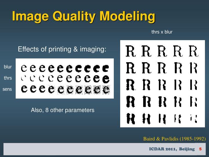 Image Quality Modeling