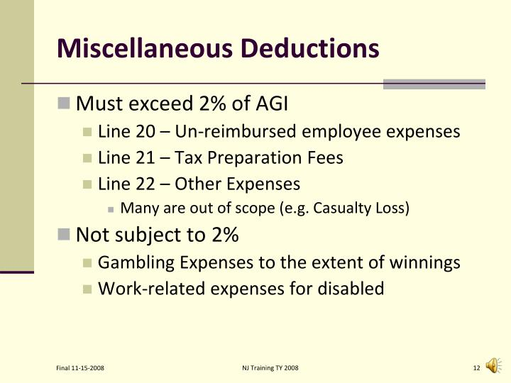 PPT - Itemized Deductions PowerPoint Presentation - ID:3396847