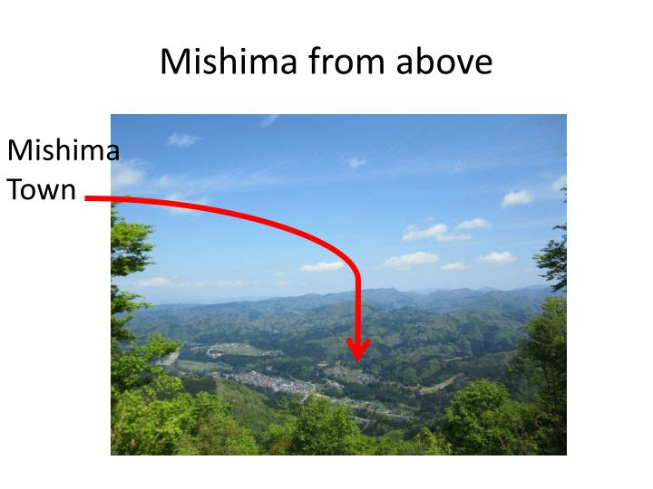 Mishima from above