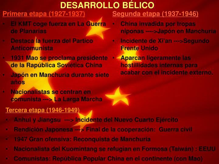 DESARROLLO BÉLICO