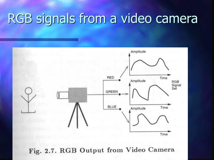 RGB signals from a video camera