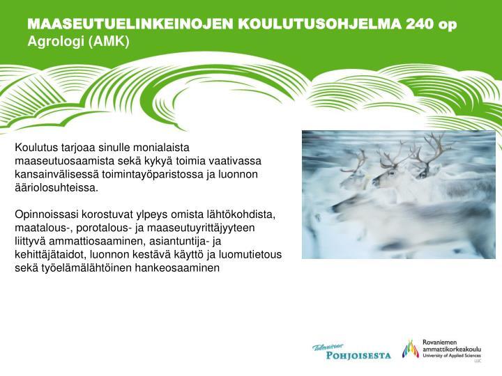 MAASEUTUELINKEINOJEN KOULUTUSOHJELMA 240 op