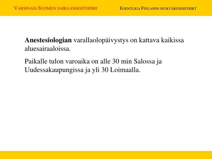 Anestesiologian