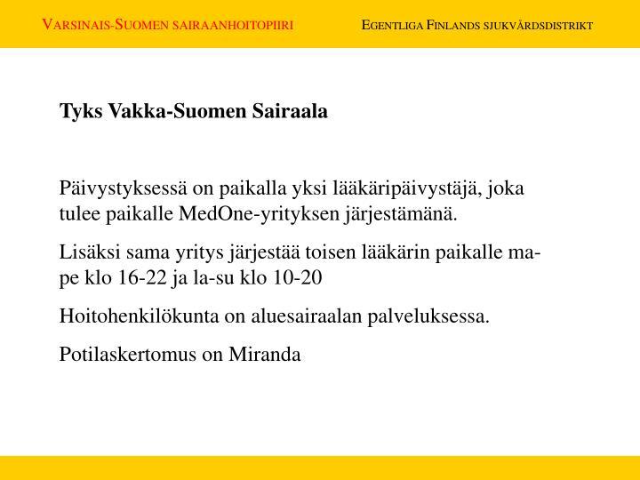 Tyks Vakka-Suomen Sairaala