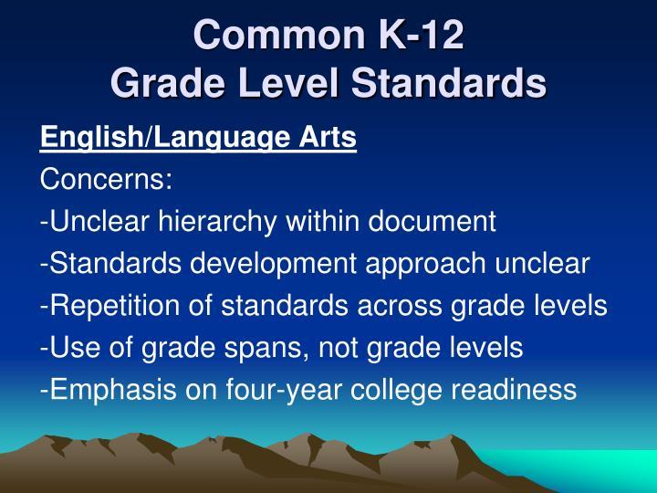 Common K-12