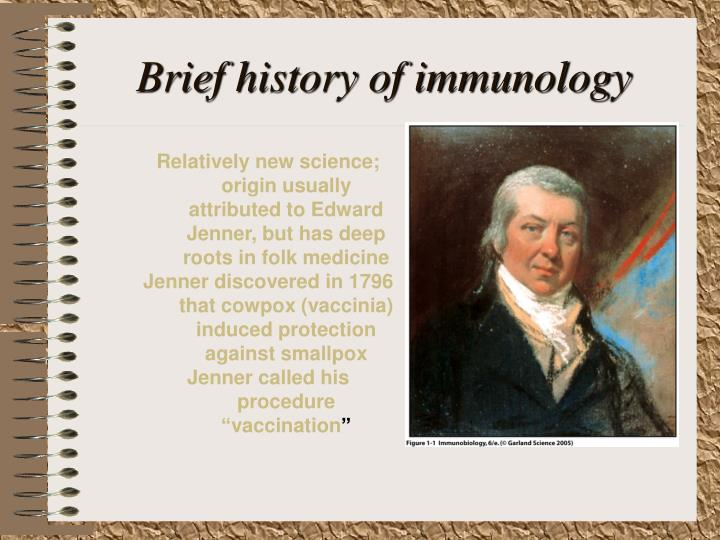 Brief history of immunology