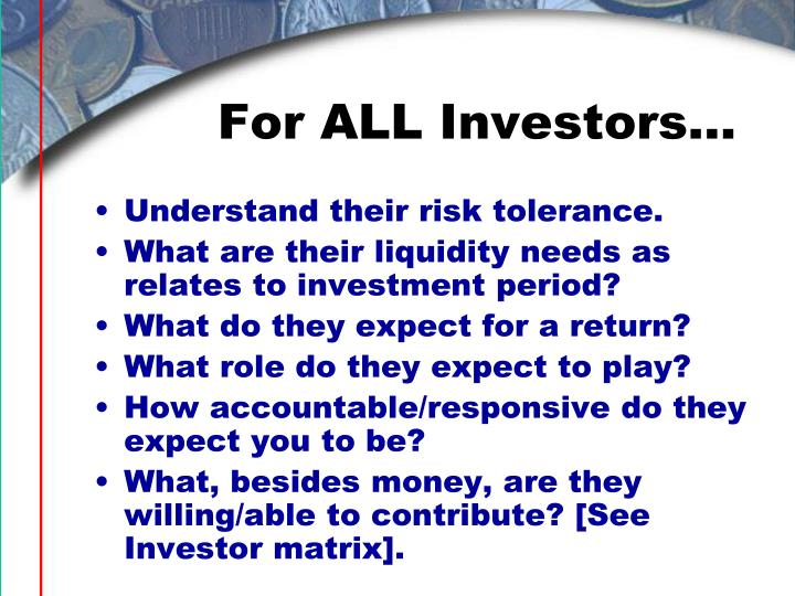 For ALL Investors…