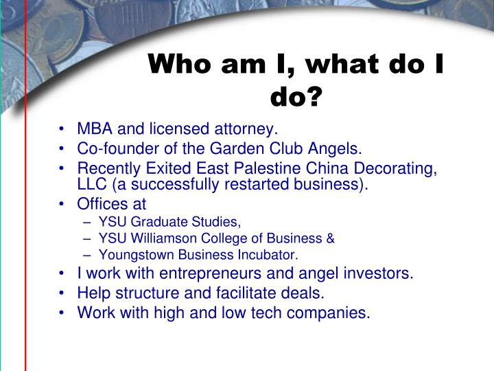 Who am I, what do I do?