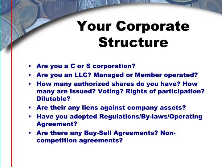 Your Corporate Structure