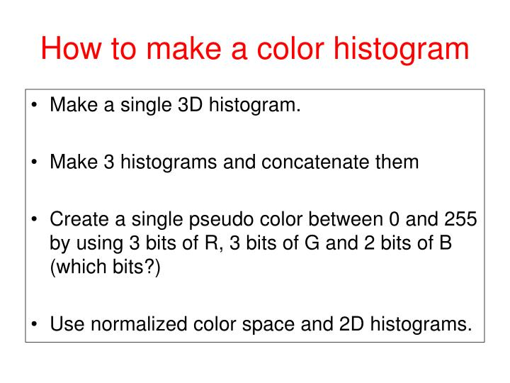 How to make a color histogram