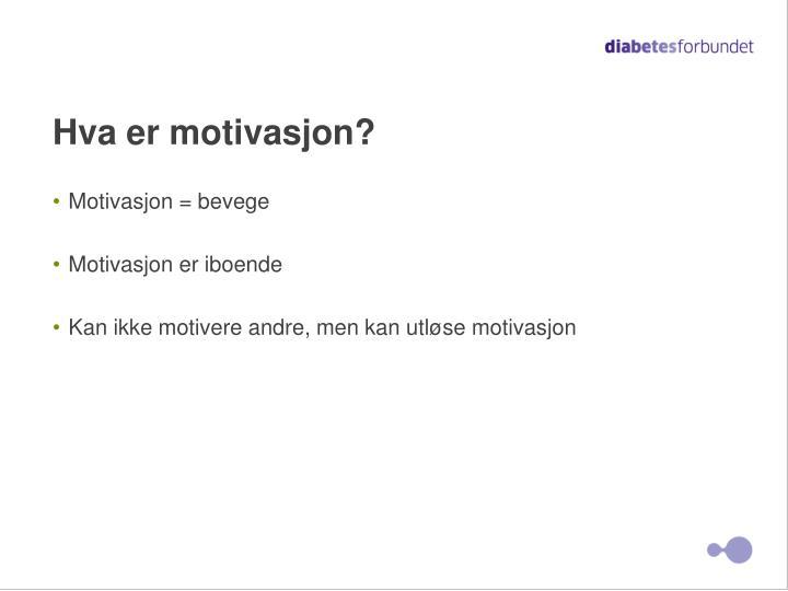 Hva er motivasjon?