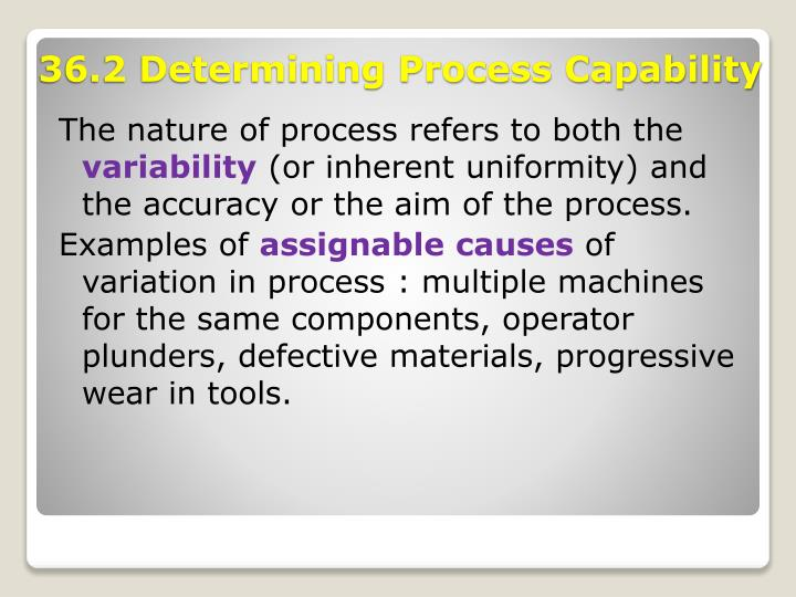 The nature of process refers to both the