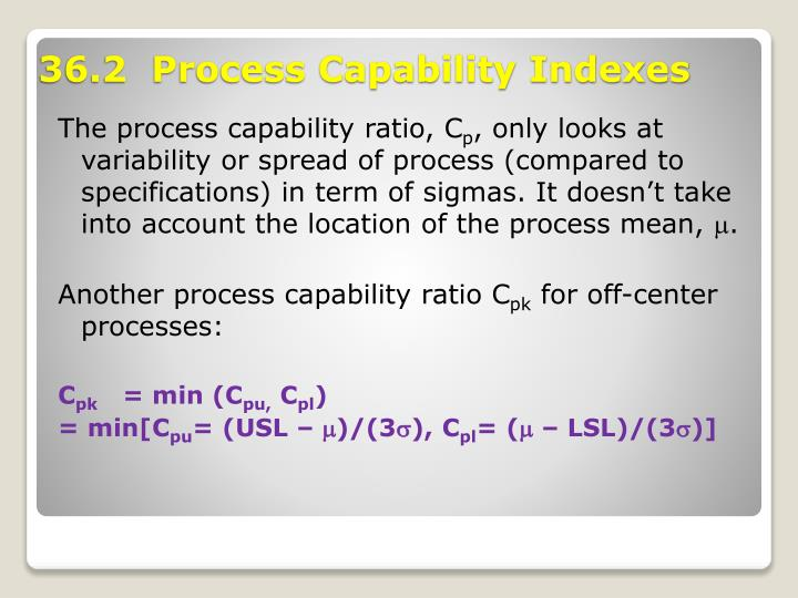 The process capability ratio, C
