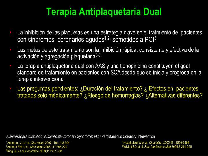 Terapia Antiplaquetaria Dual