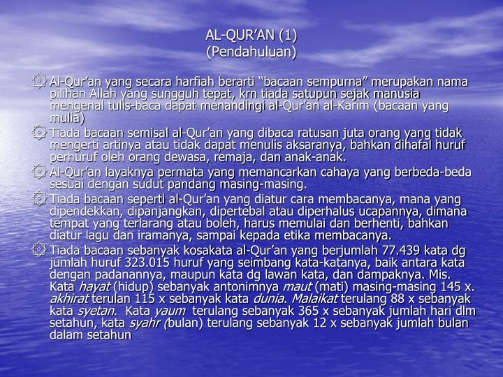 AL-QUR'AN (1)