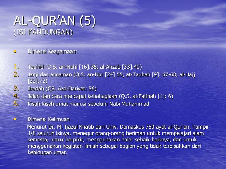 AL-QUR'AN (5)