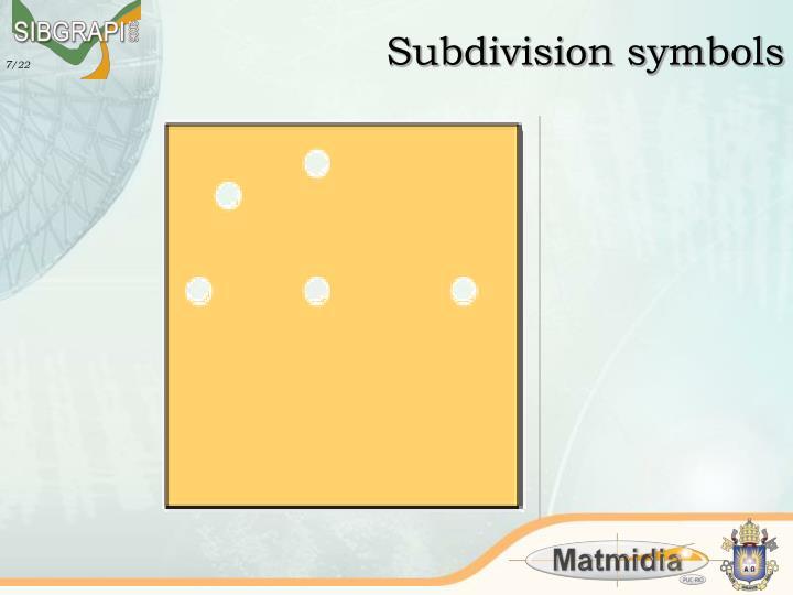 Subdivision symbols