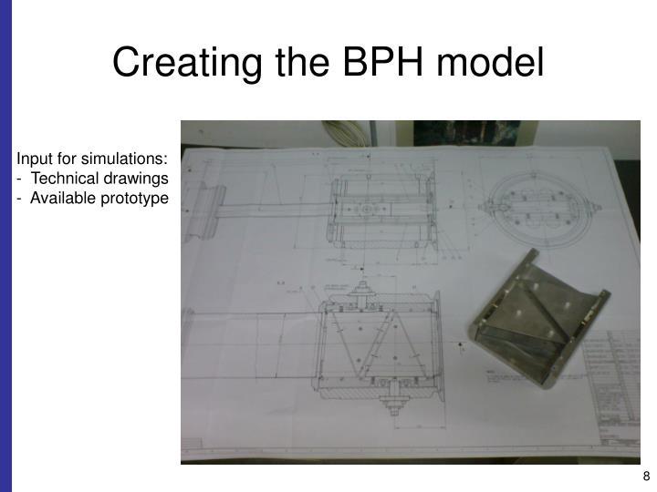 Creating the BPH model