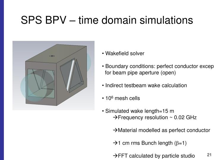SPS BPV – time domain simulations