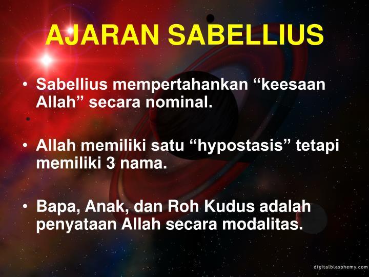 AJARAN SABELLIUS