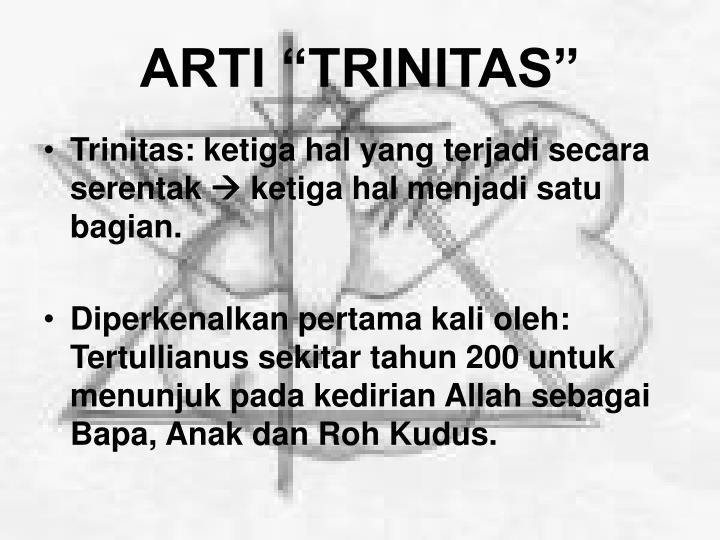 "ARTI ""TRINITAS"""