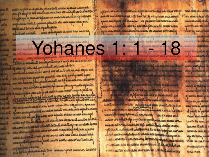 Yohanes 1: 1 - 18