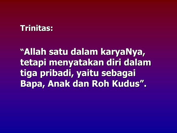 Trinitas: