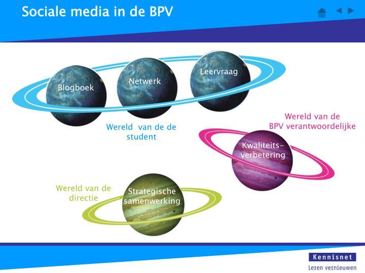 Sociale media in de BPV