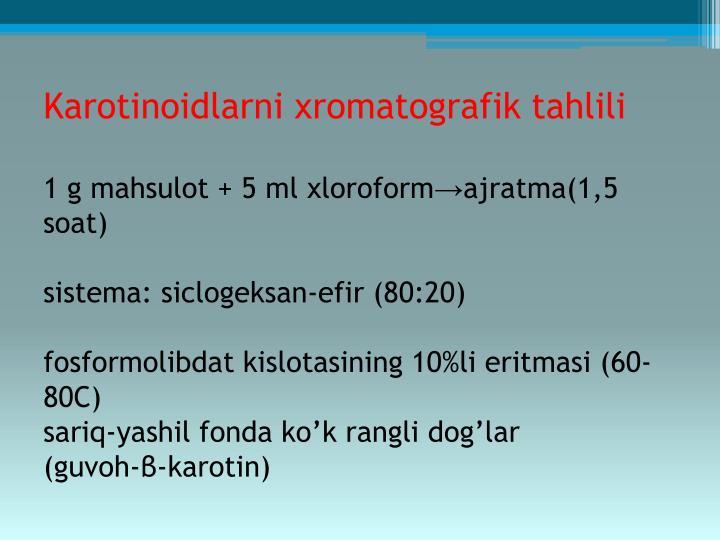 Karotinoidlarni