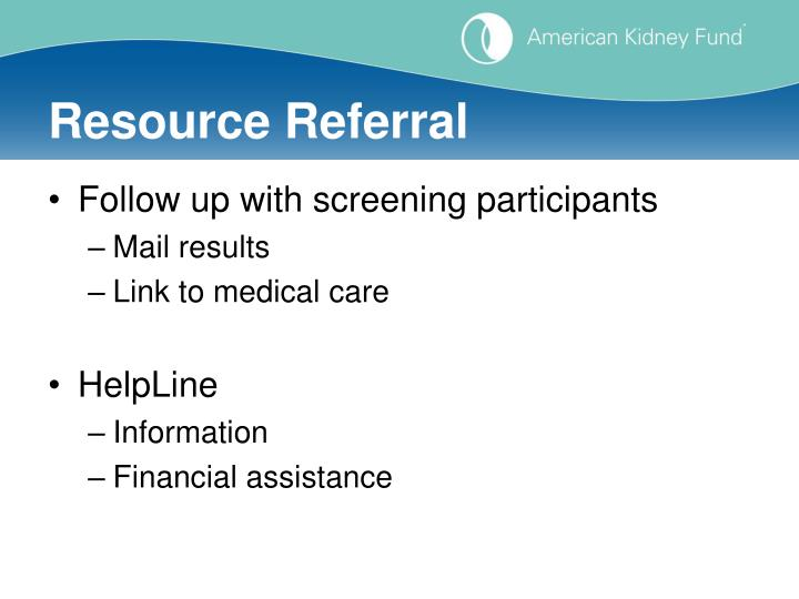 Resource Referral