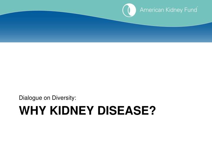 Why kidney disease
