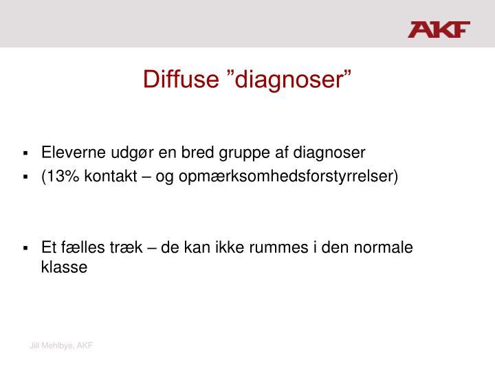 """Diffuse """"diagnoser"""""""