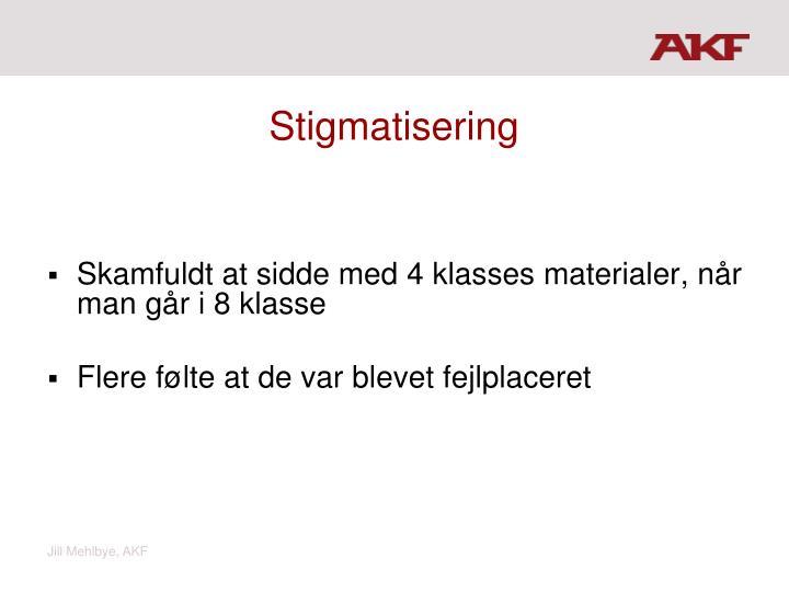 Stigmatisering
