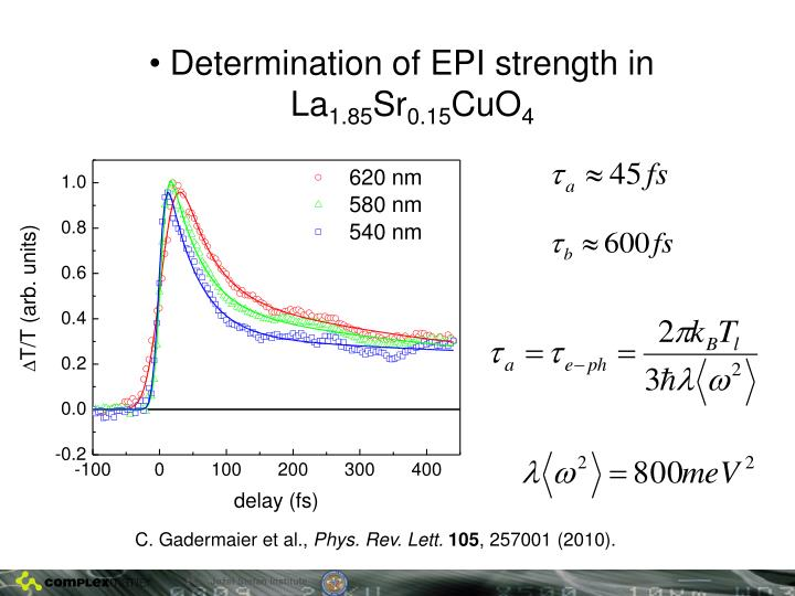 Determination of EPI strength in La