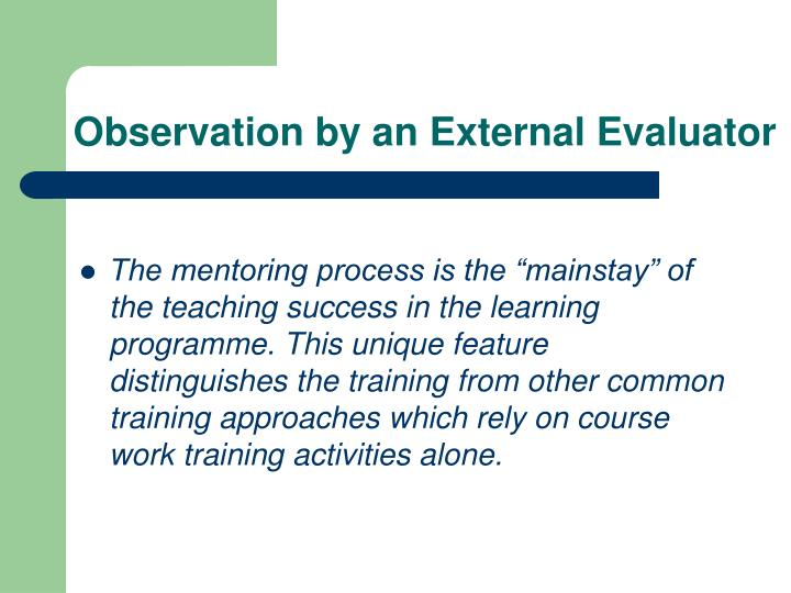 Observation by an External Evaluator