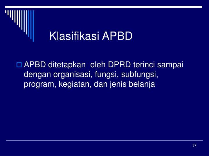 Klasifikasi APBD