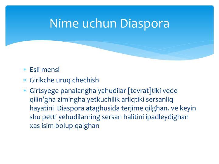 Nime uchun Diaspora