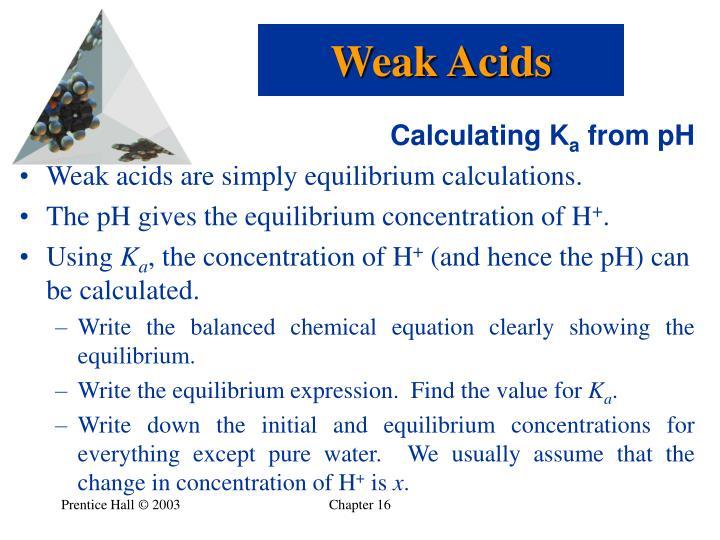 Weak Acids
