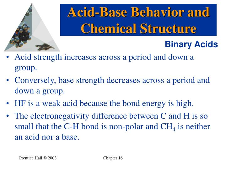 Acid-Base Behavior and Chemical Structure