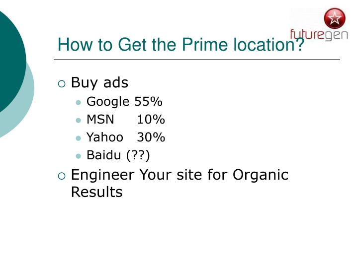 How to Get the Prime location?