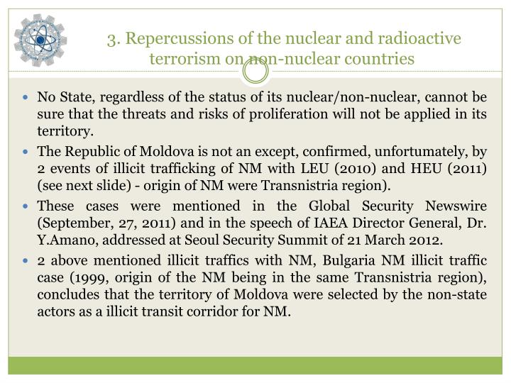 3 repercussions of the nuclear and radioactive terrorism on non nuclear countries