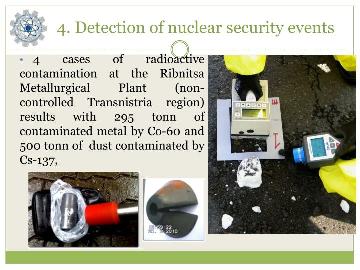 4. Detection of nuclear security events