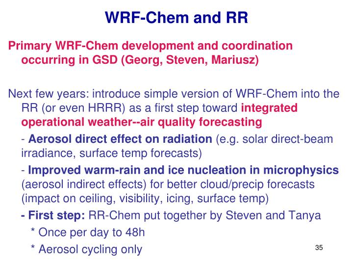 WRF-Chem and RR