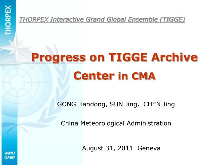 THORPEX Interactive Grand Global Ensemble (TIGGE)